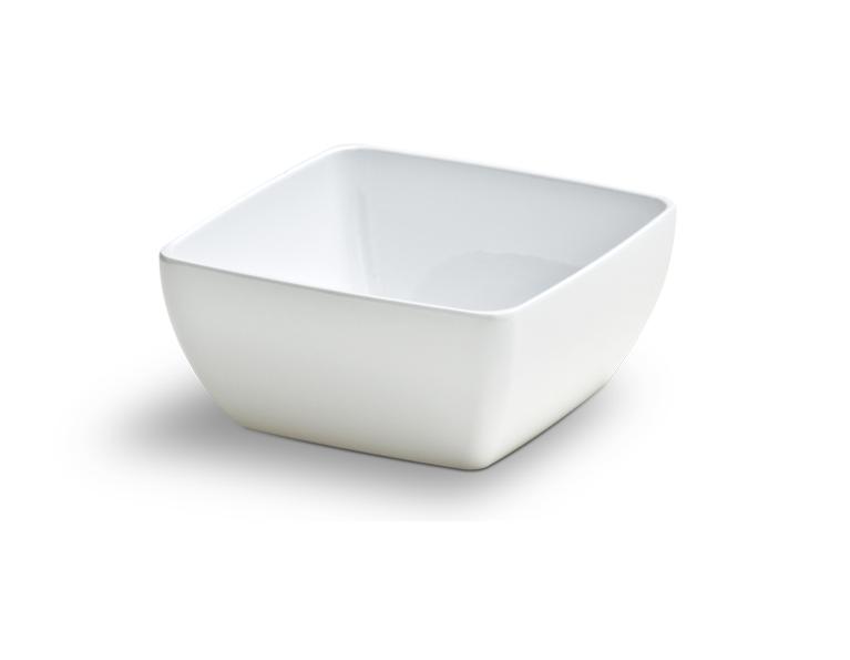 Bowl Square Branco 100Ml Melamina Haus 52601/002