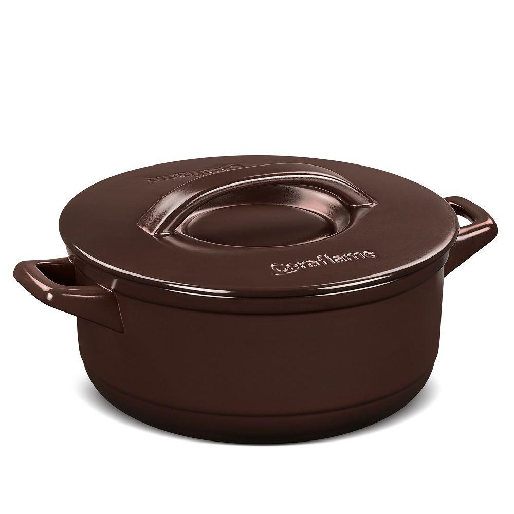 Caçarola de Cerâmica Duo+ 28cm 6L Chocolate Ceraflame
