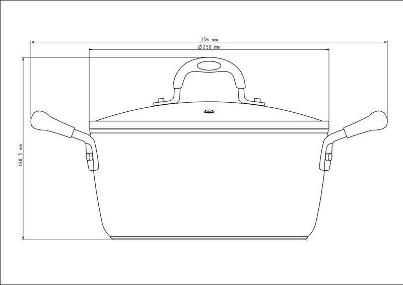 Caçarola Preta Alumínio Antiaderente Starflon T3 Mônaco 24cm 4,7L Tramontina - 20860/024