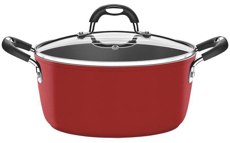 Caçarola Vermelha Alumínio Antiaderente Starflon T3 28cm 6,5L Mônaco Tramontina - 20860/728