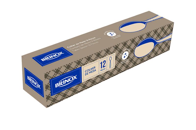 Colher De Mesa Aço Inox 12 Peças Infinity Brinox 5004/101