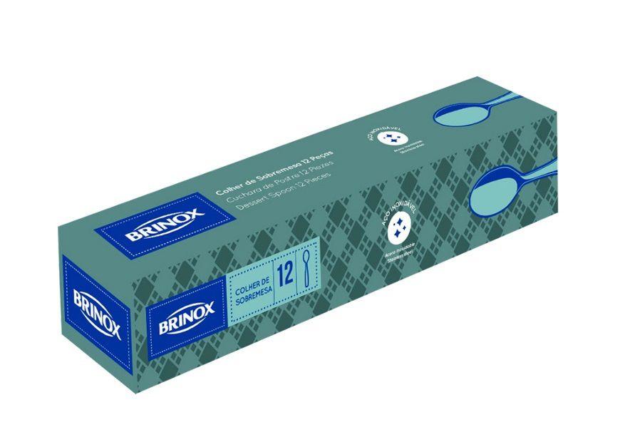Colher de Refresco Aço Inox Lyon 12 Peças Brinox - 5100/120