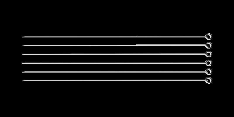 Conjunto De Espetinhos Em Aço Inox 50cm 6 Peças Tramontina - 26499/006