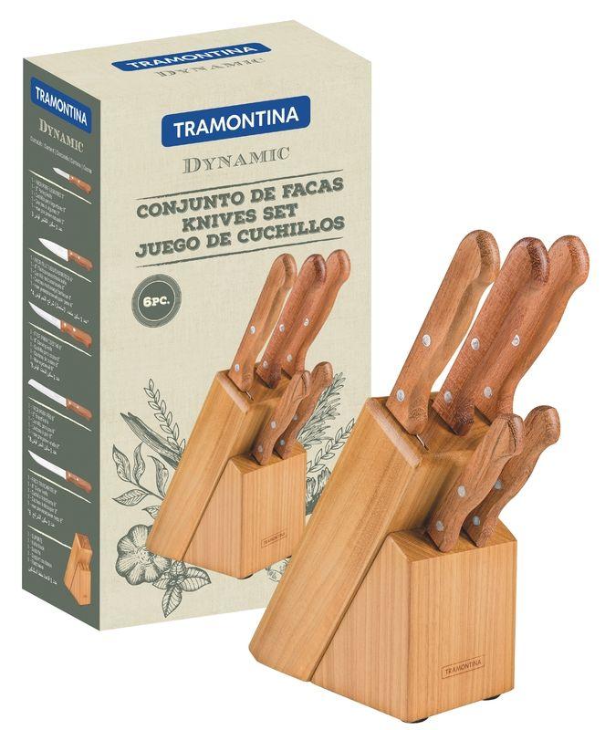 Conjunto De Facas Inox 6 Peças Dynamic Tramontina 22399/020