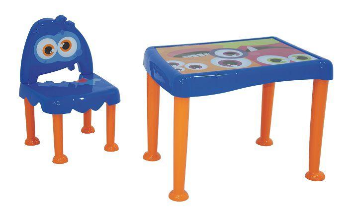 Conjunto de Mesa e Cadeira Infantil Monster em Polipropileno Tramontina