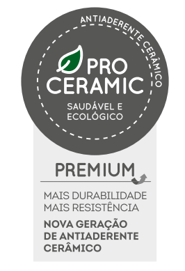 Conjunto de Panelas Ceramic Life Optima 5 peças Nata Brinox - 4792/102