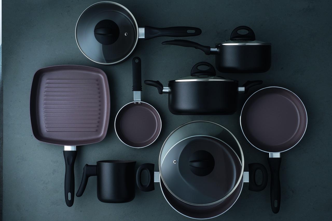 Conjunto de Panelas Ceramic Life Smart Plus 8 peças Preto Brinox - 4791/103