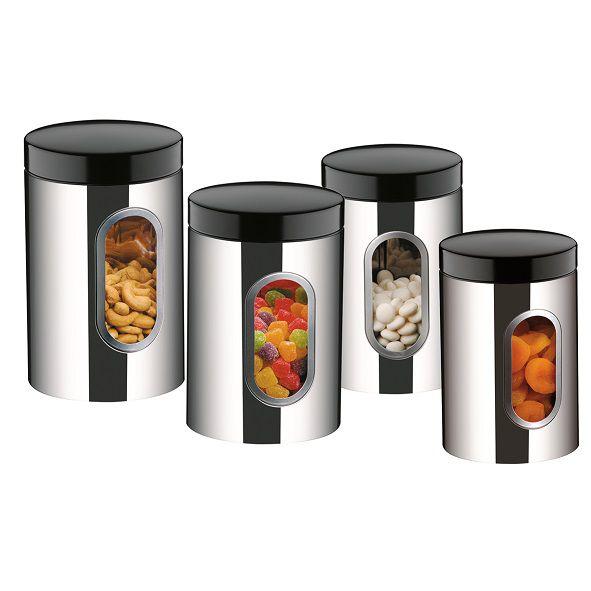 Conjunto De Potes Aço Inox Com Visor 4 Peças Suprema Brinox - 2109/100