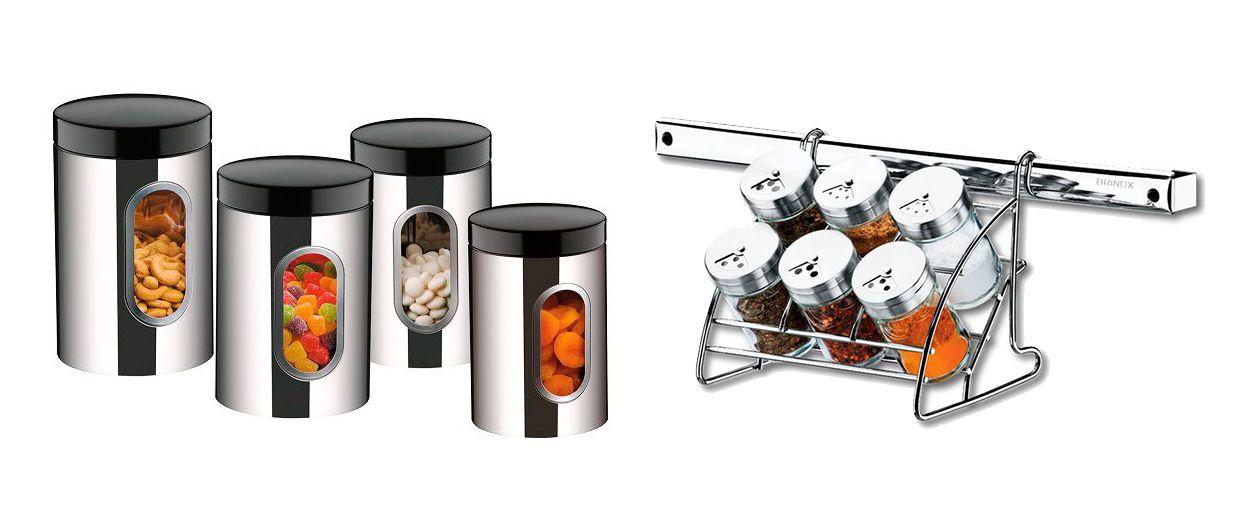 735db883a Conjunto De Potes Aço Inox e Porta Condimentos Suprema Brinox - 2109 100  2200