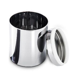 Conjunto De Potes Aço Inox Mantimentos Com Tampa 3 Peças Suprema Brinox - 2100/102