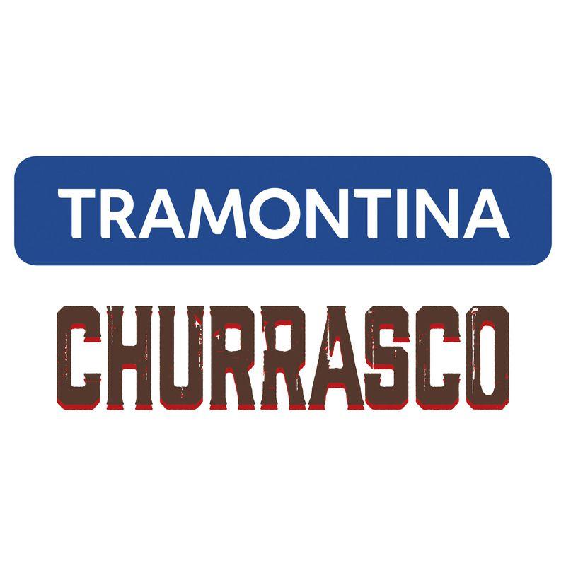 Kit para Churrasco Tramontina em Aço Inox Forjado Cabo Castanho Polywood com Tábua de Madeira 3 Peças - Tramontina - 21599