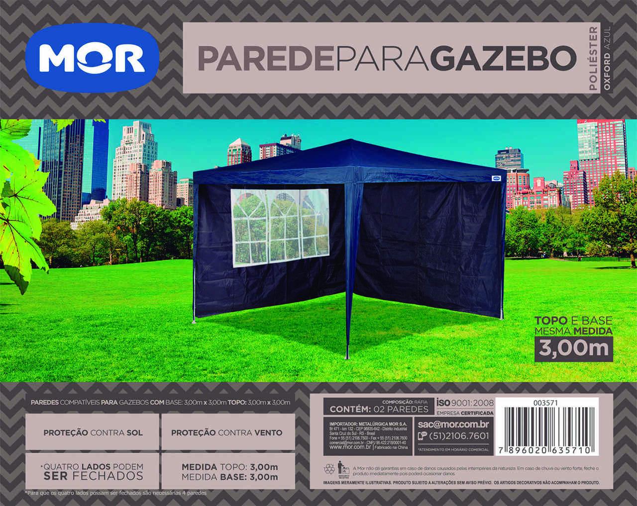 Conjunto De Parede para Gazebo Oxford Azul 3m x 3m MOR - 003571