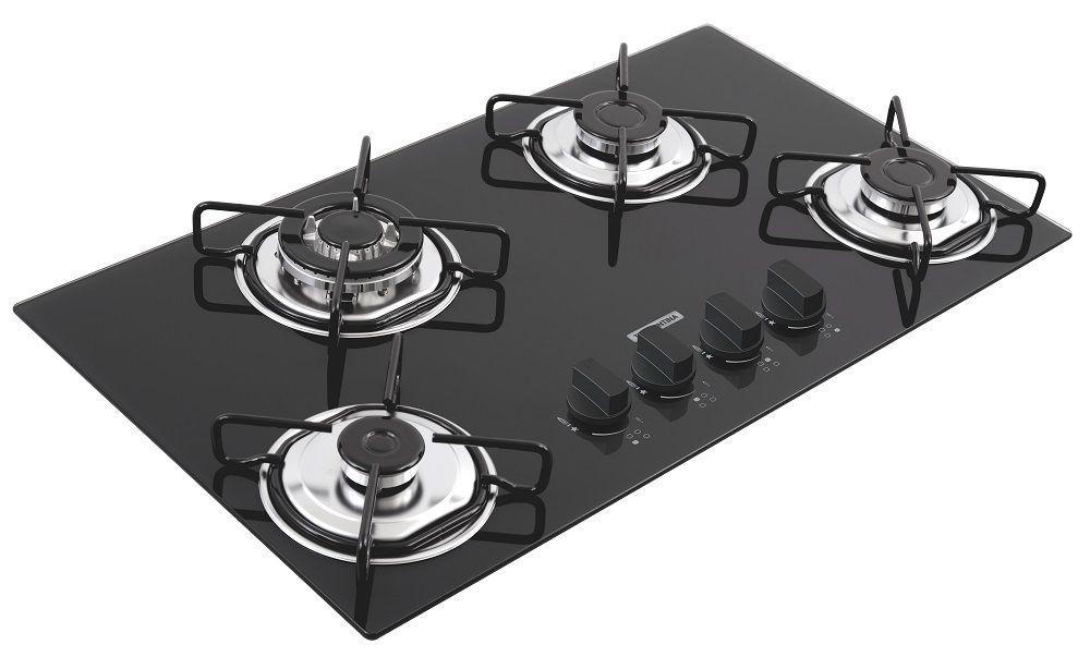 Cooktop A Gás Trapézio Standard Preto 4 Queimadores Tramontina 94753/501