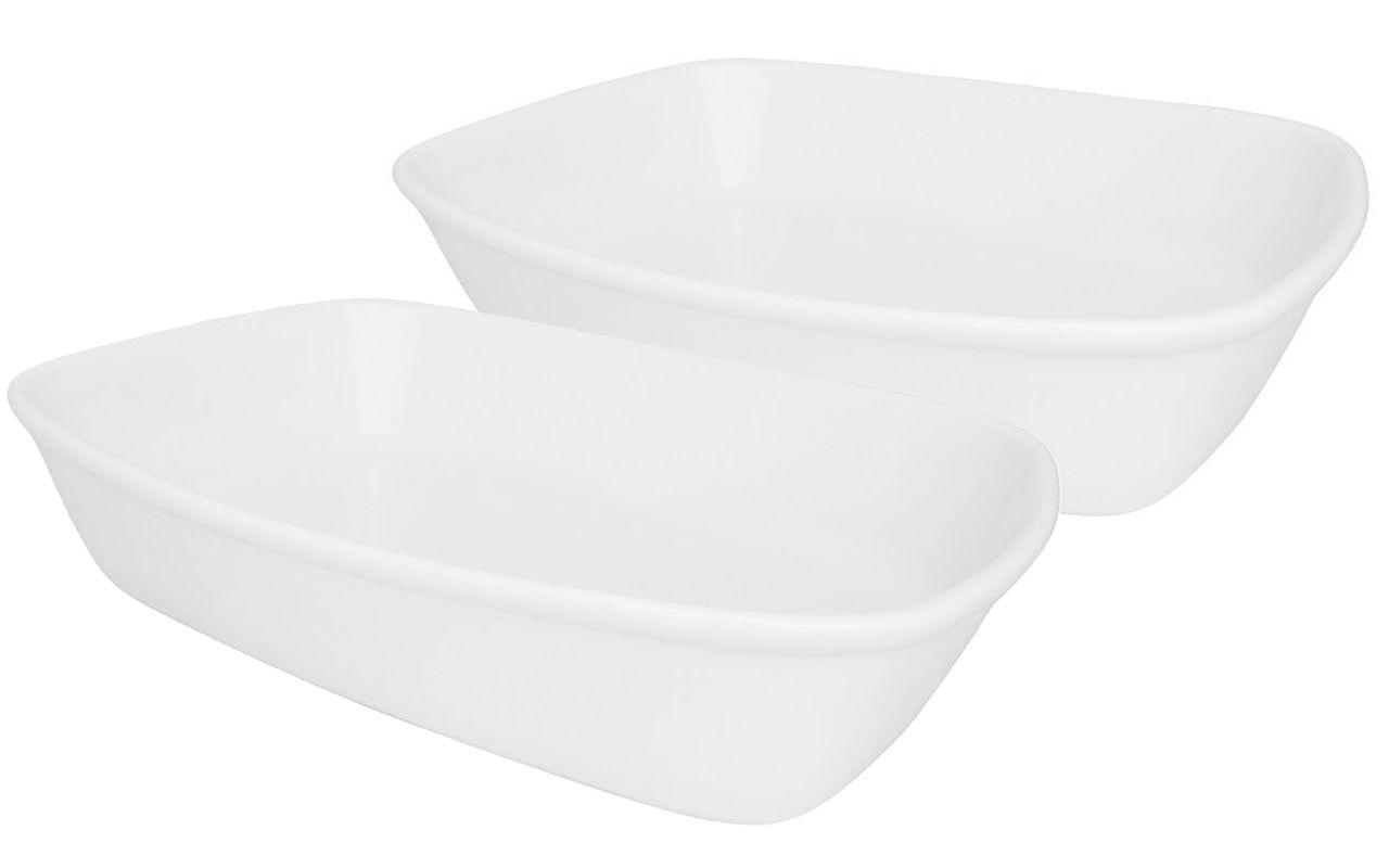 Duas Travessas Refratárias Bake Grande Porcelana 30X21Cm Oxford