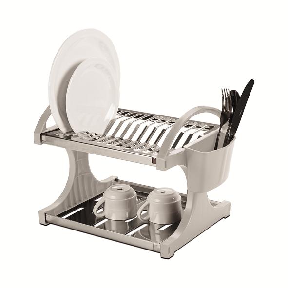 Escorredor De Louças Aço Inox 12 Pratos Suprema Branco Brinox - 2104/200