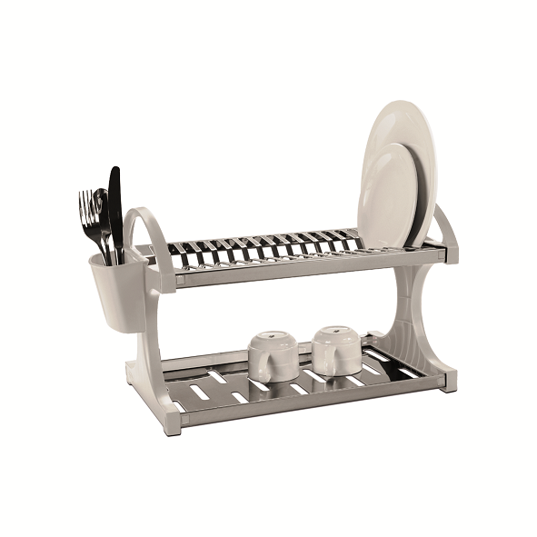 Escorredor De Louças Aço Inox 16 Pratos Suprema Branco Brinox - 2104/201