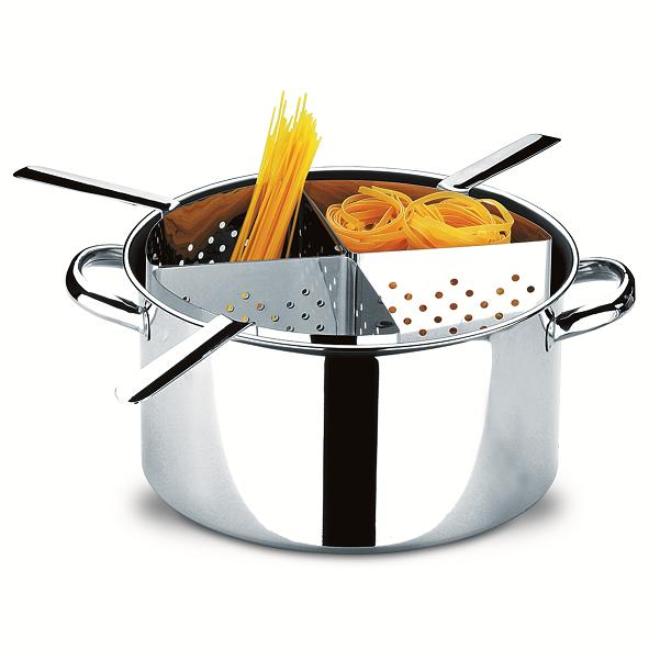Espagueteira Aço Inox Com 4 Divisões Savoy 31Cm 10l Brinox - 1075/200