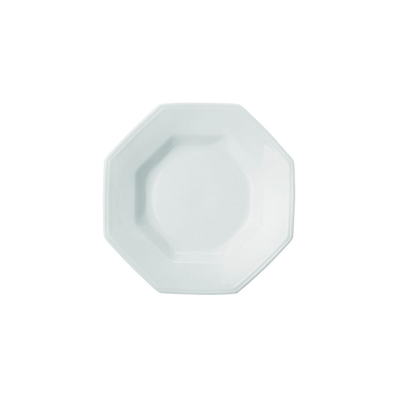 Estojo com 6 Pratos Fundos 24cm Porcelana Prisma Branca - Schmidt