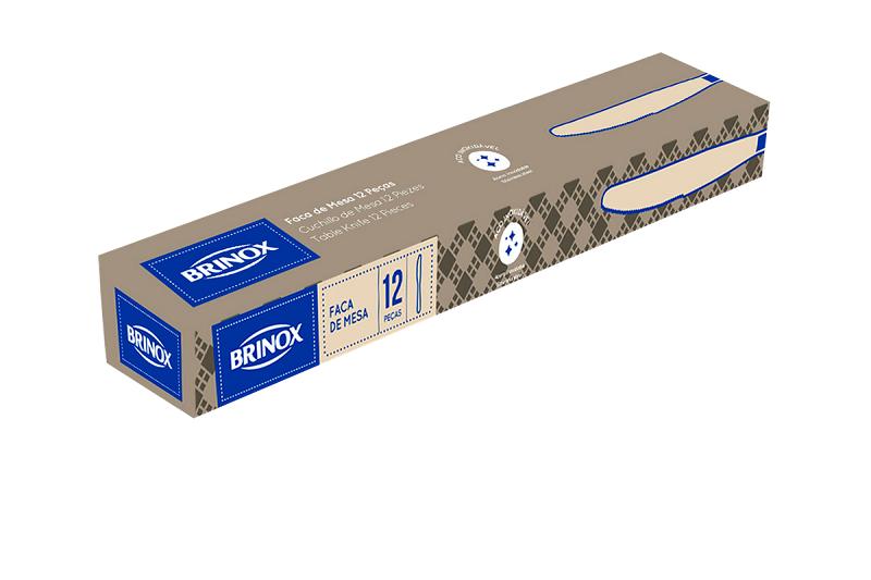 Faca De Mesa Aço Inox 12 Peças Infinity Brinox 5004/103