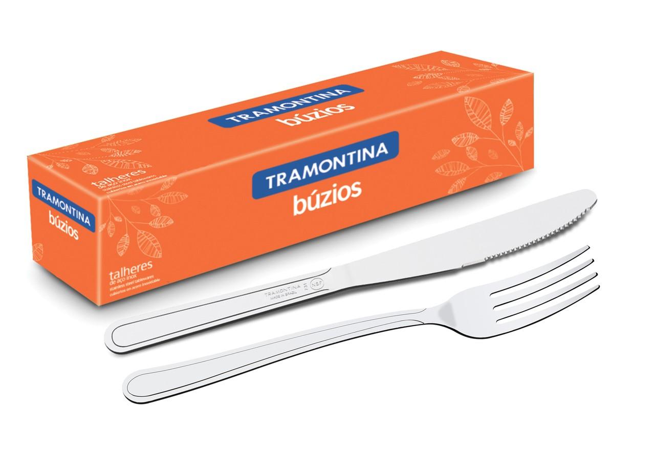 Faca e Garfo De Mesa Restaurante Búzios Com 72 Peças Tramontina