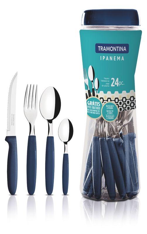 Faqueiro Tramontina Ipanema 24 Peças Azul 23399/191