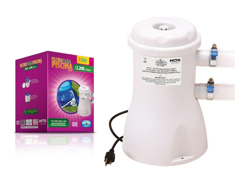 Filtro para Piscina 2.200 L/h 110v - MOR 1511