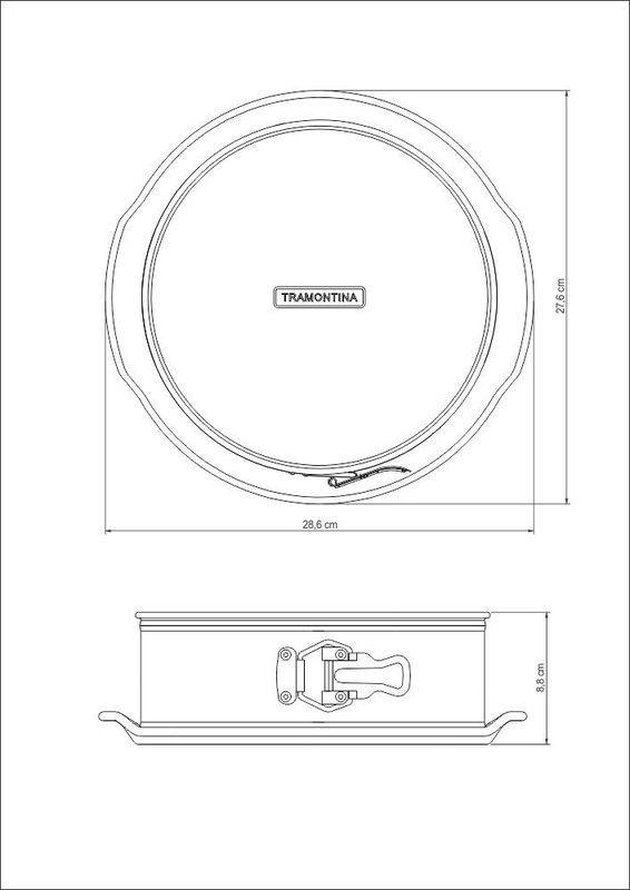 Forma Redonda Fundo Removível 24cm Bakery Tramontina - 27814/013