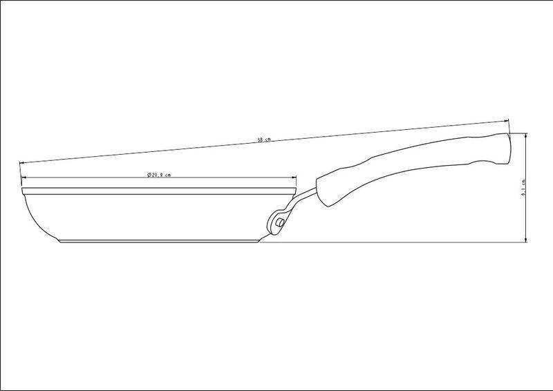 Frigideira Preta Alumínio Antiaderente Starflon T3 20cm Mônaco Tramontina - 20850/020