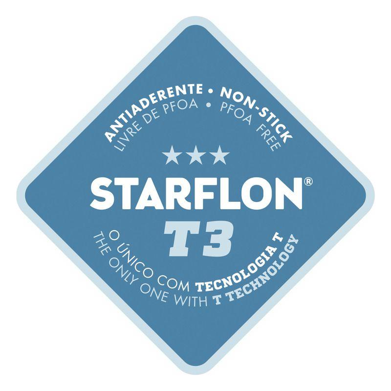 Frigideira Preta Em Alumínio Antiaderente Starflon T3 28cm Mônaco Tramontina - 20850/028