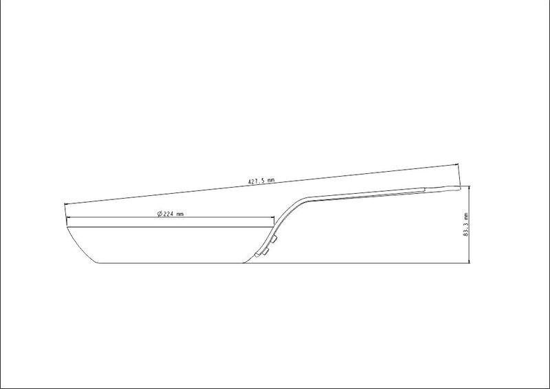 Frigideira Tramontina Profissional de Ferro 22cm - 20897/022
