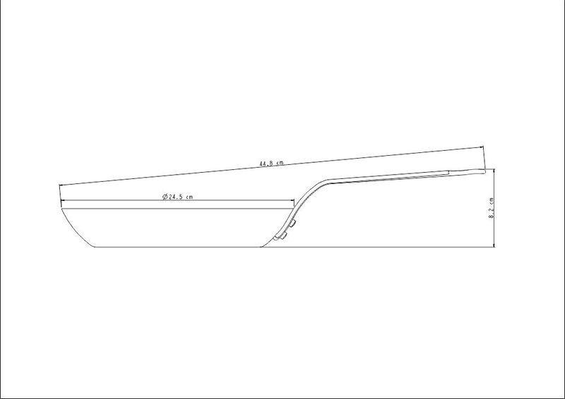 Frigideira Profissional de Ferro 24cm Tramontina - 20897/024