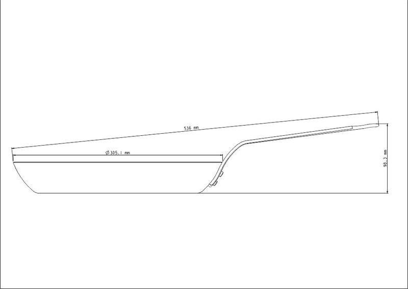 Frigideira Tramontina Profissional de Ferro 30cm - 20897/030