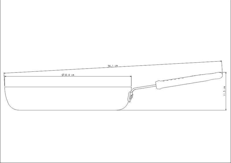 Frigideira Profissional Em Alumínio Revestimento Interno Cerâmico 32cm 4L Tramontina - 20885/032