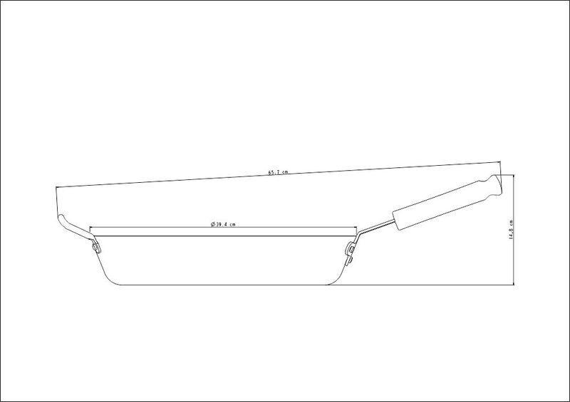 Frigideira Profissional Em Alumínio 38cm Tramontina - 20834/038