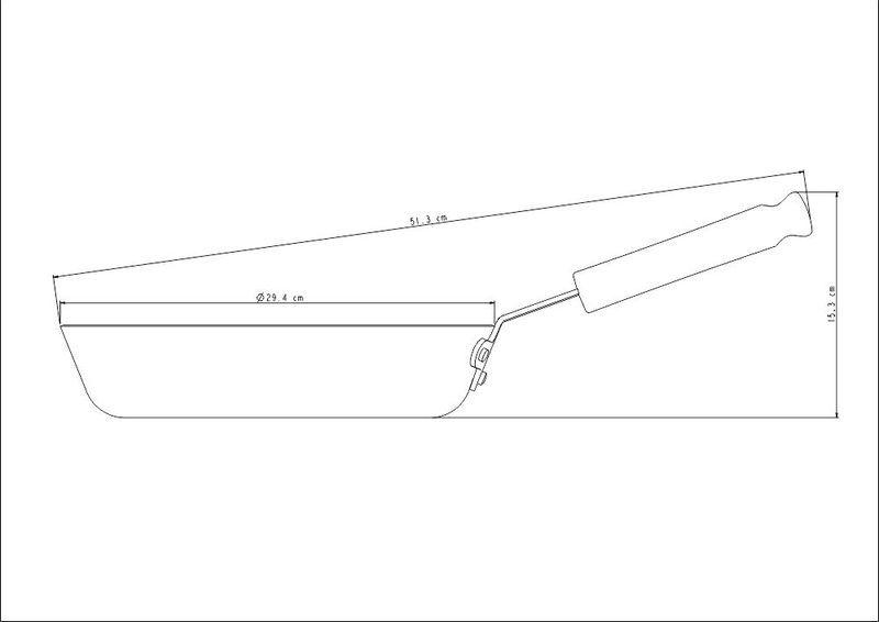 Frigideira Profissional Funda Em Alumínio 28cm 3,3L Tramontina - 20886/028