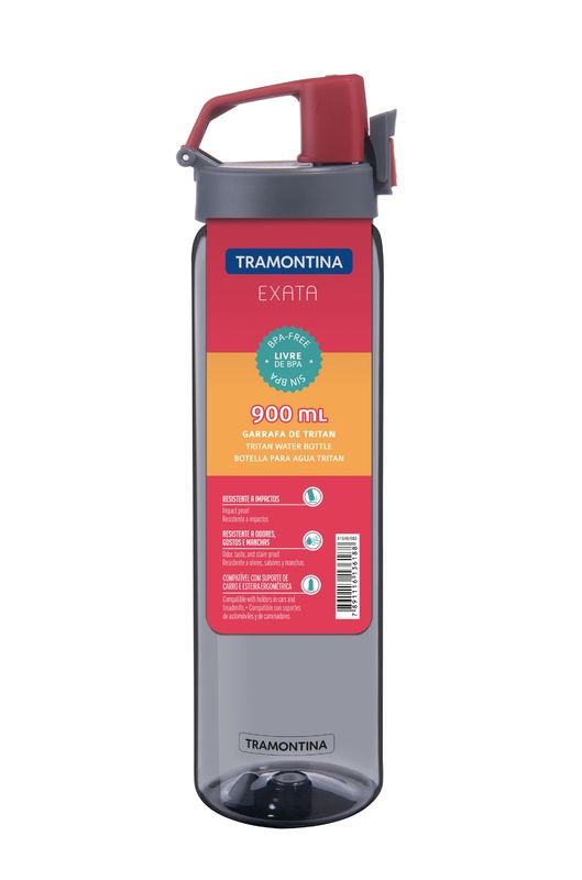 Garrafa Cinza em Tritan 0,9L Exata Tramontina - 61646/083