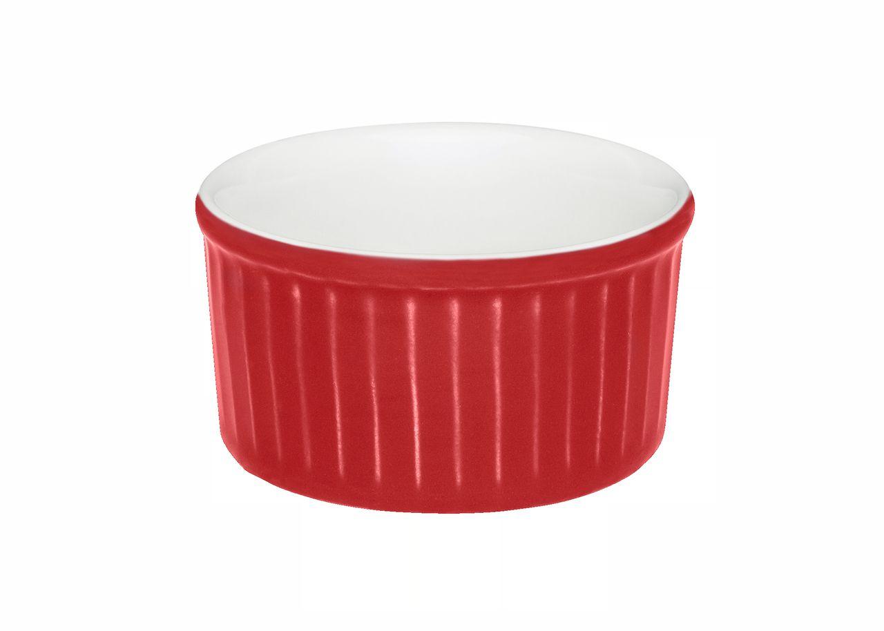 Jogo Com 12 Tigelas Ramequin Porcelana Vermelho 8X4cm 100ml Oxford