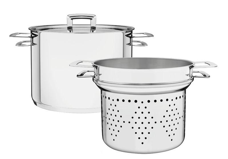 Jogo cozi-pasta e Espagueteira Inox Fundo triplo Tramontina 65400/400