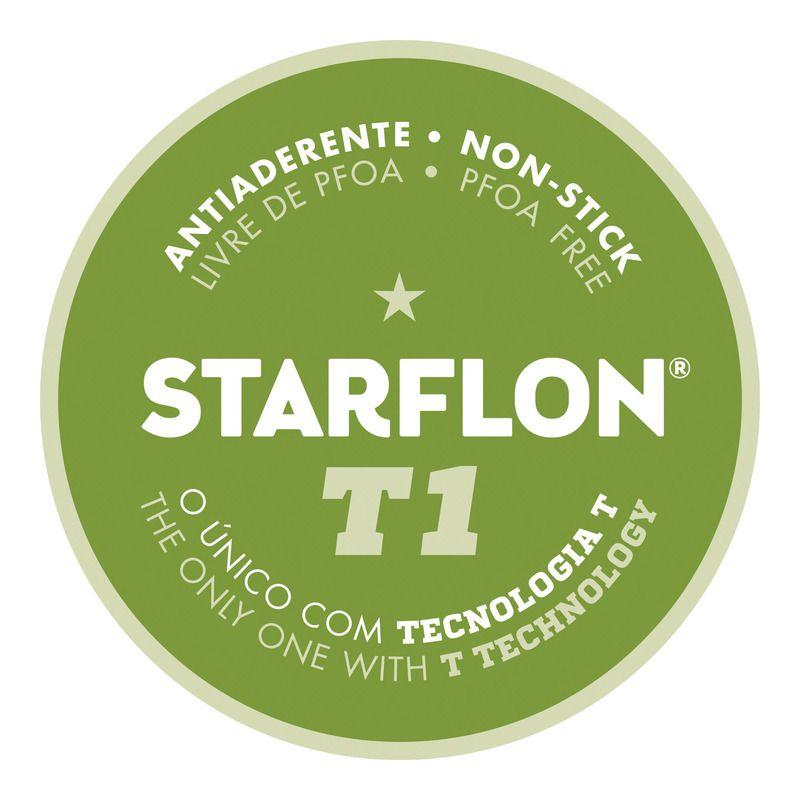 Jogo De Frigideiras Antiaderente Starflon Vermelho 3 Peças Tramontina - 20198/716