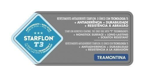 Jogo De Panelas Mônaco 6 Peças Vermelha Starflon T3 Tramontina