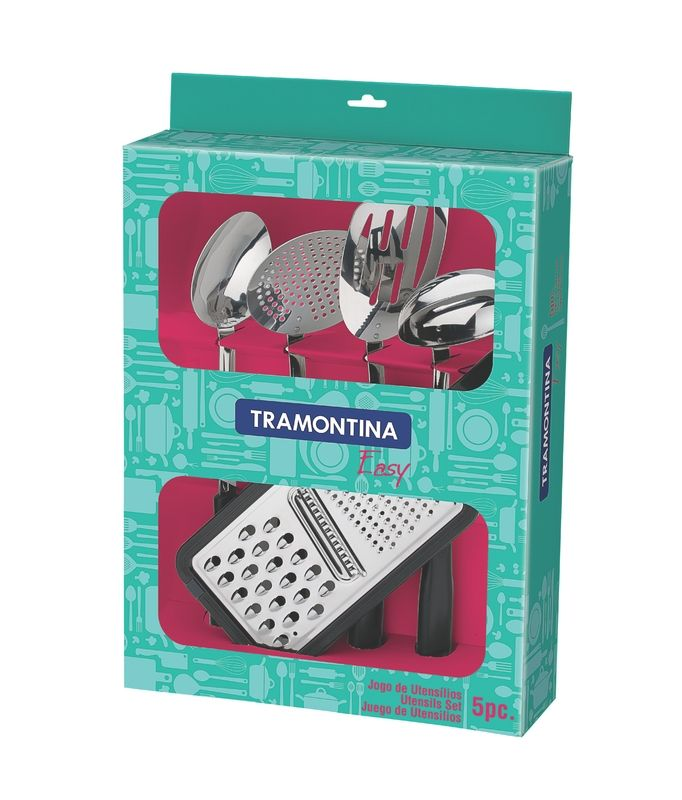 Jogo De Utensílios 5 Peças Preto Tramontina Easy - 25299/004