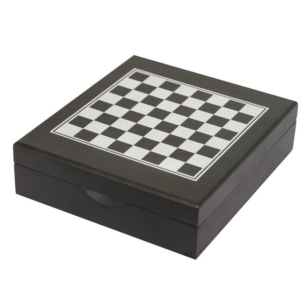Conjunto Para Vinho 5 Peças Com Jogo de Xadrez