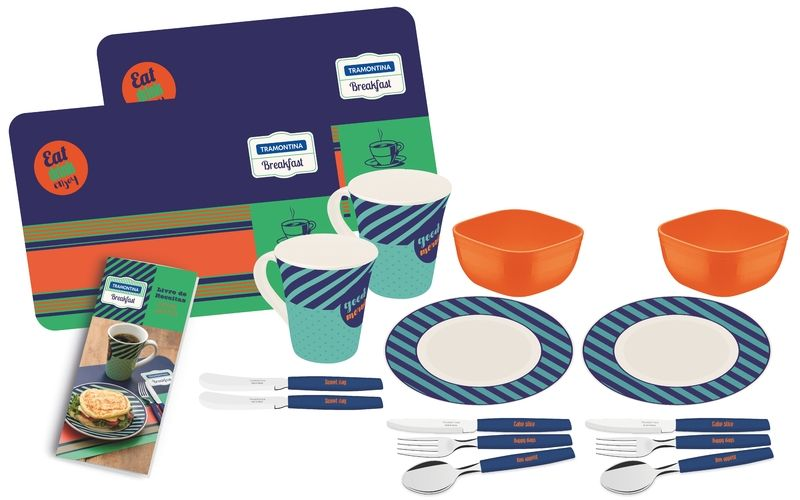 Kit Café Da Manha 16 Peças Breakfast Tramontina 29899/041