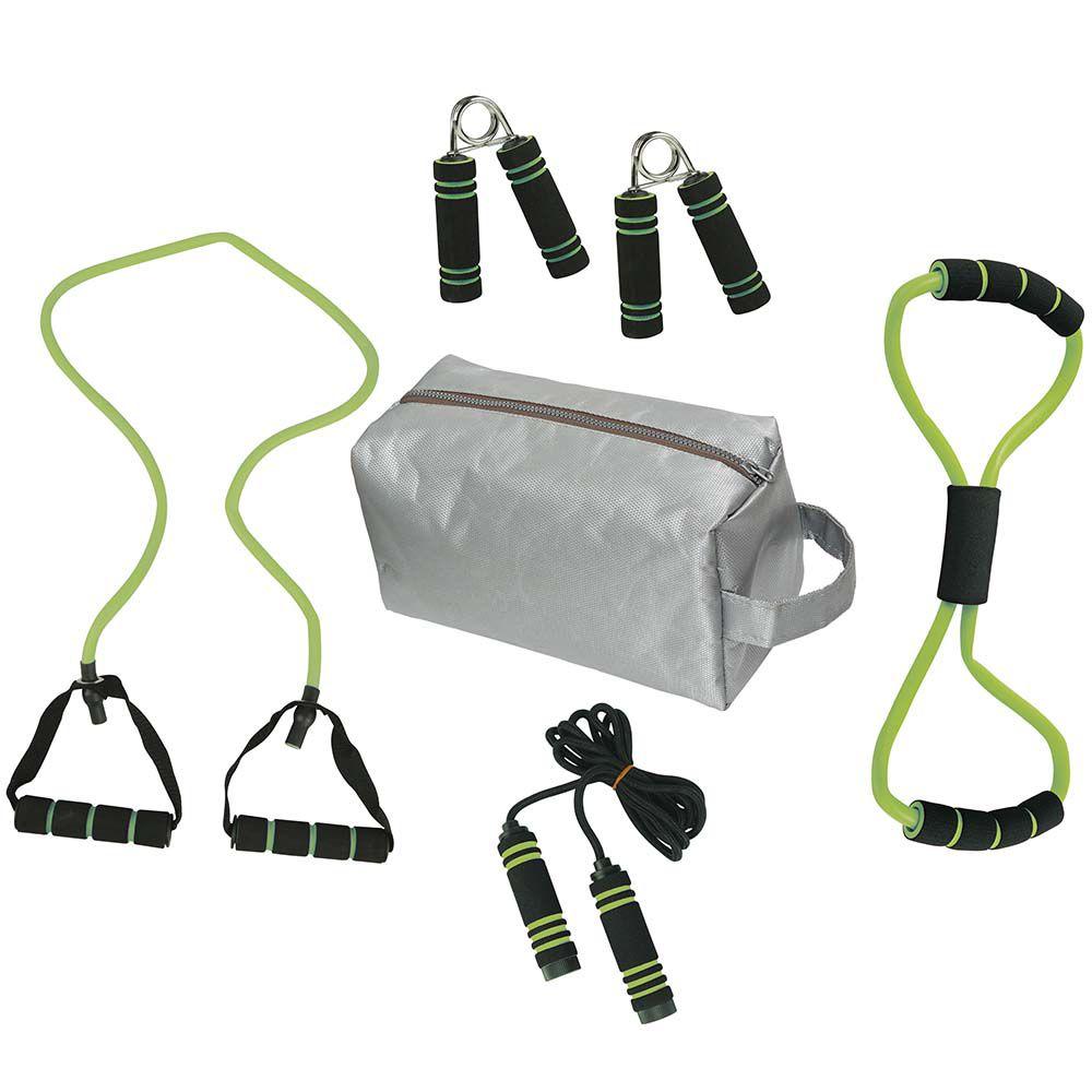a13c619e5 Kit Fitness Tonificador Muscular com Bolsa 6 Peças Verde -MOR 40200018