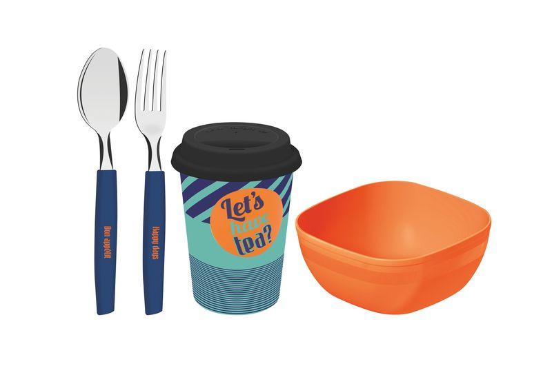 86c1e517a Kit Para Café da Manhã Polipropileno e Cerâmica 4 Peças Breakfast  Tramontina - 29899 040