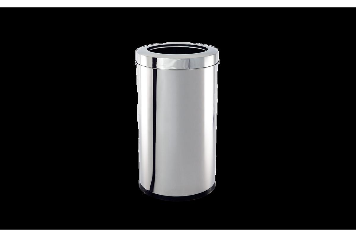 Lixeira Aço Inox Com Aro Decorline 25X60Cm 28L Brinox 3033/204
