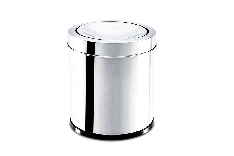 Lixeira Inox Com Tampa Basculante Decorline 15,5X17Cm Brinox 3032/201