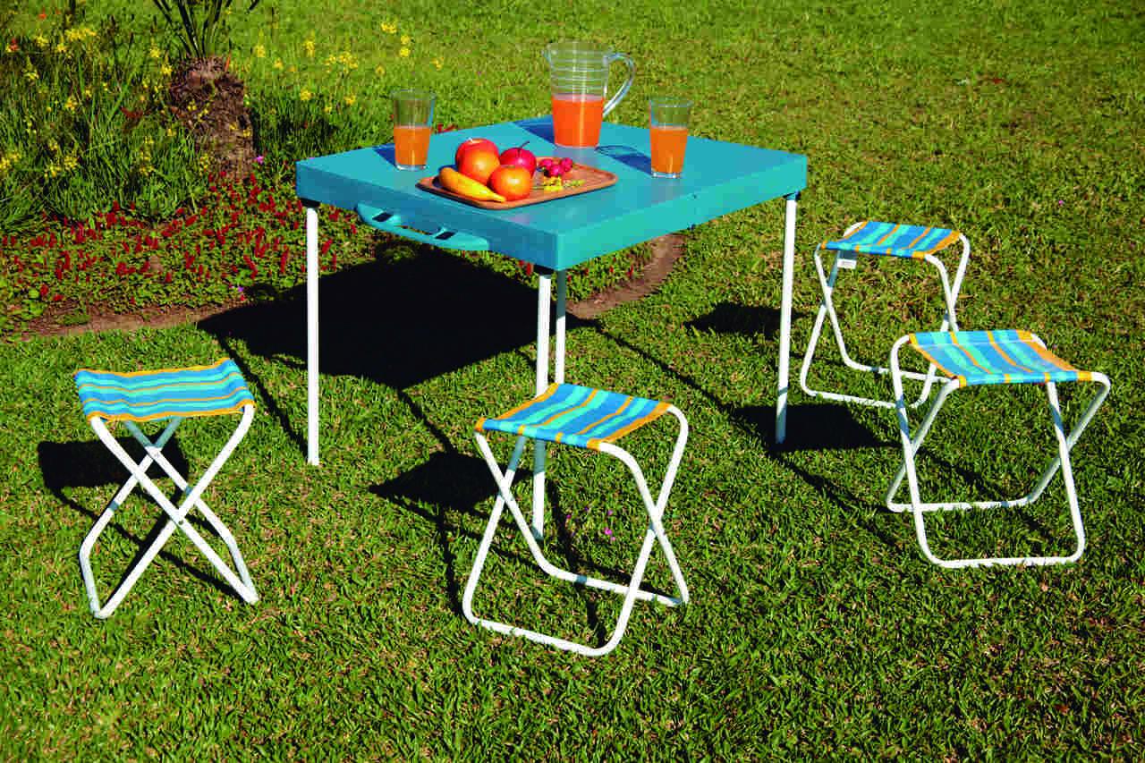 Mesa Prática com Banquetas Para Camping MOR - 003403