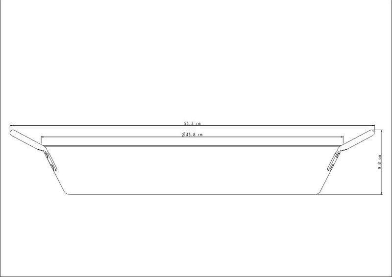 Paellera Profissional Alumínio Acabamento Lixado 45cm Tramontina - 20835/045