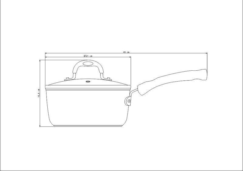 Panela De Alumínio Antiaderente Starflon T3 Preta 20cm 2,6L Mônaco Tramontina - 20861/020